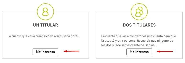 Titular de la cuenta Bankia sin comisiones