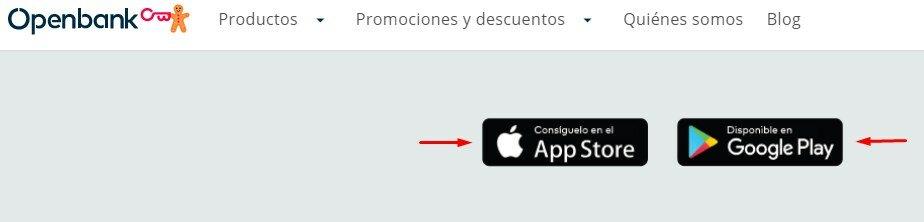 Aplicación móvil de la cuenta corriente OpenBank