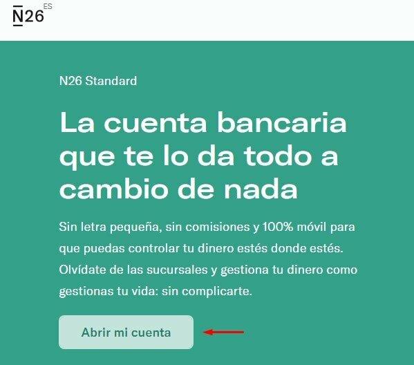 Abrir cuenta bancaria en N26