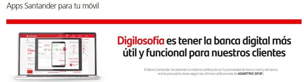 Aplicación móvil de Santander