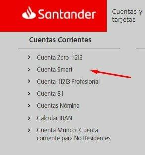 Elige una de las Cuentas sin comisiones Santander