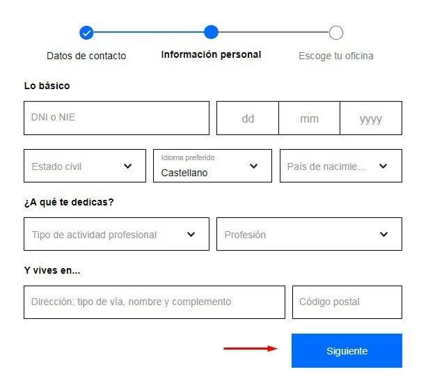 Aportar información a Sabadell cuentas sin comisiones