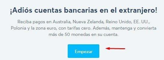 Recibe pagos a través de TransferWise