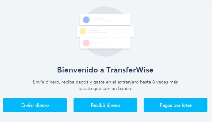 Comienza a usar TransferWise