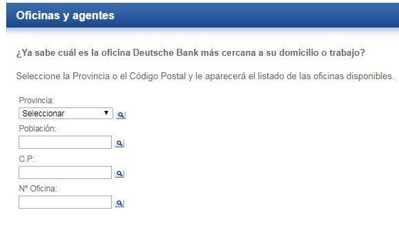Oficinas y agencias de Deutsche Bank