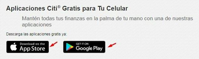 Aplicaciones móviles de citibank