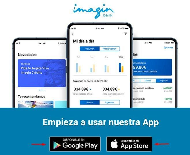 Aplicaciones móviles de ImaginBank