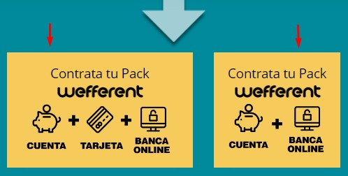 Contrata el pack wefferent que quieras